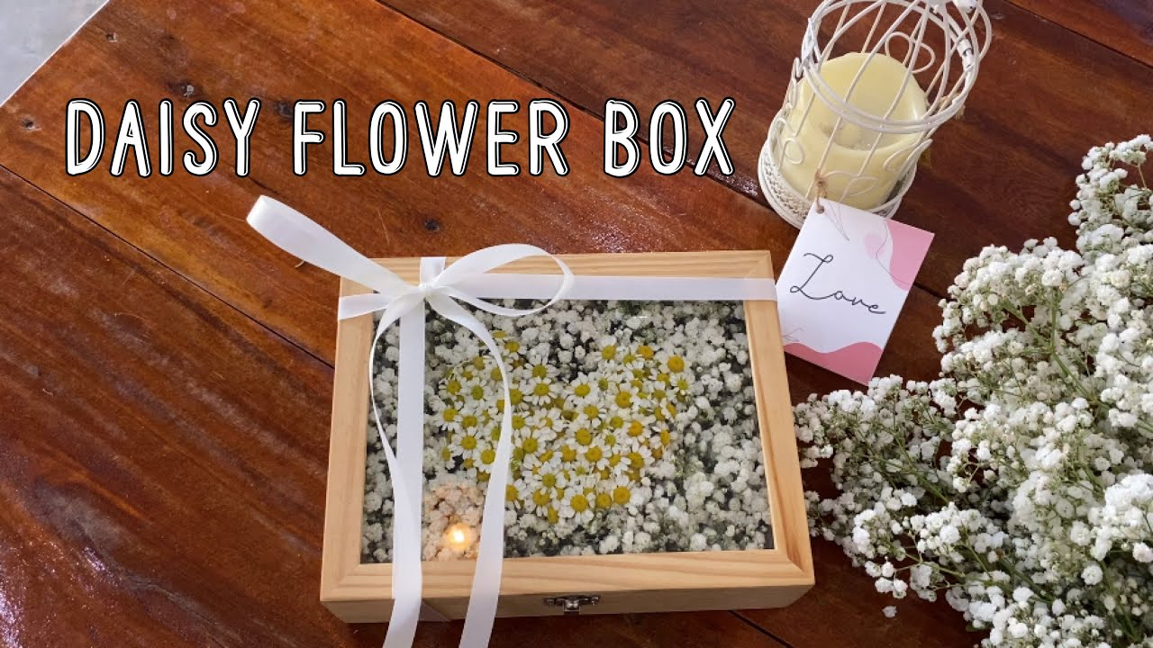 Daisy Flower Box - กล่องดอกไม้ #สอนจัดดอกไม้ #flowerbox