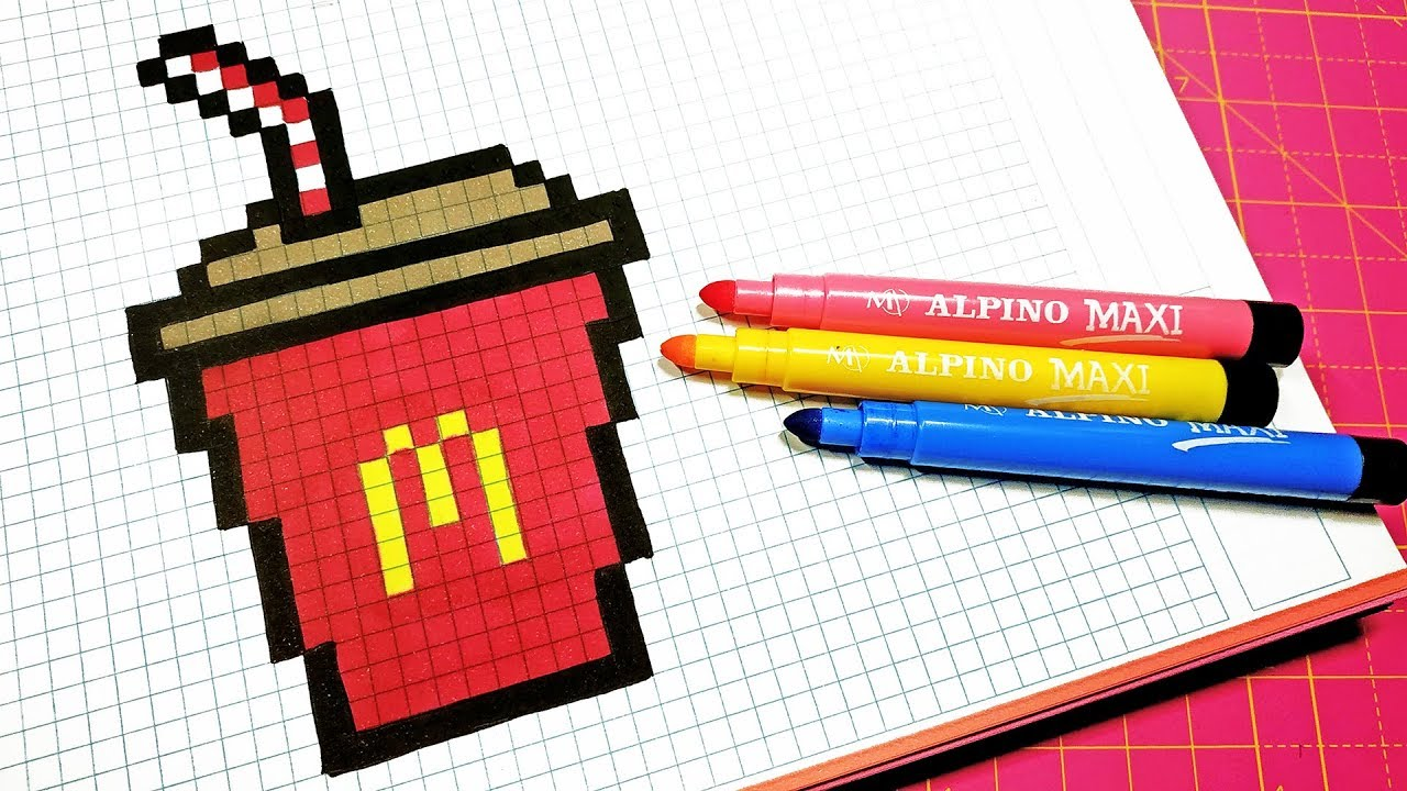 Handmade Pixel Art How To Draw A Mcdonalds Drink Pixelart