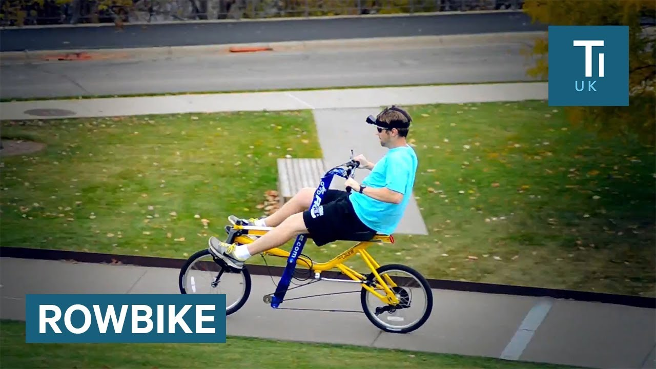 This Bike Rowing Machine Hybrid Works Out Your Legs And Abs Youtube
