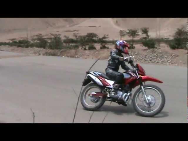 Prueba de Pista Motocicleta X200 Todo Terreno Marca Kamax Videos De Viajes