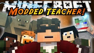 Minecraft Mini-Game : MODDED TEACHER! LORD OF THE RINGS!