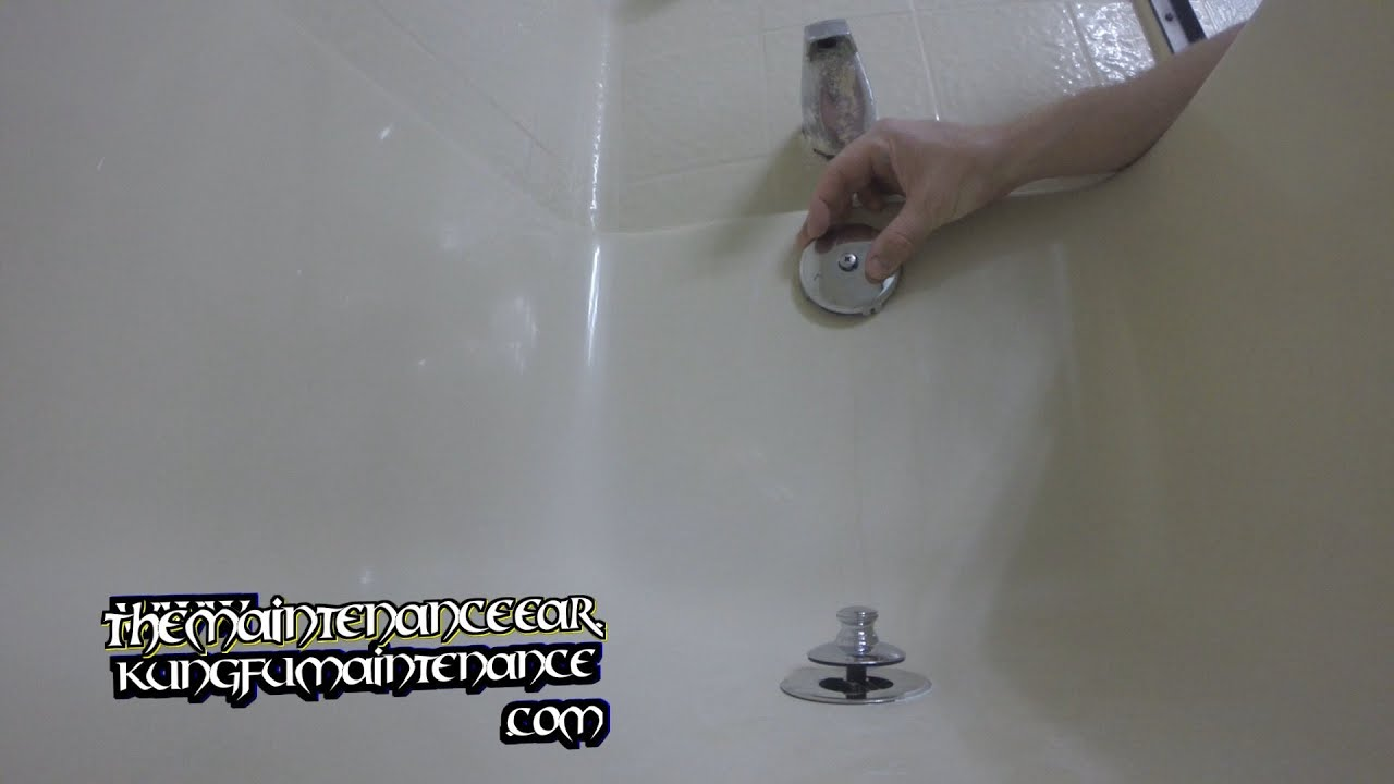 How To Replace Bathtub Overflow Drain Vent Cover Rusted Discolored ...