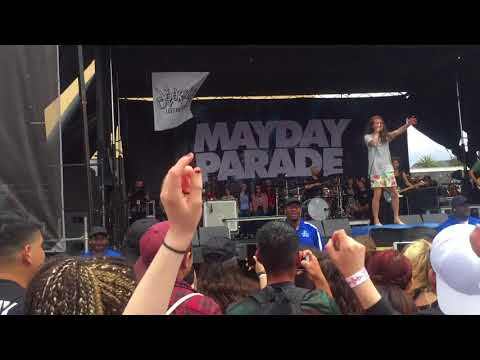 Mayday Parade - The Rock Show (Blink 182) - Vans Warped Tour - Ventura, CA 6/24/18