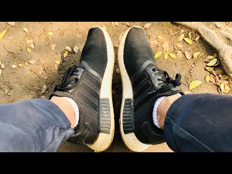 new product 32207 70563 Adidas NMD R1 Core Black Gum 3 Unboxing + On Feet