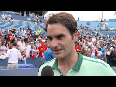 Cincinnati 2014 Final Interview Federer