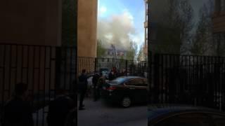 Пожар в Москве китай город