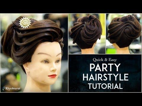 Party Hairstyle Tutorial Step By Step Hair Bun Tutorial Easy
