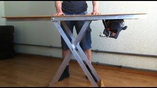 видео Стол трансформер своими руками. Раскладной журнальный столик.
