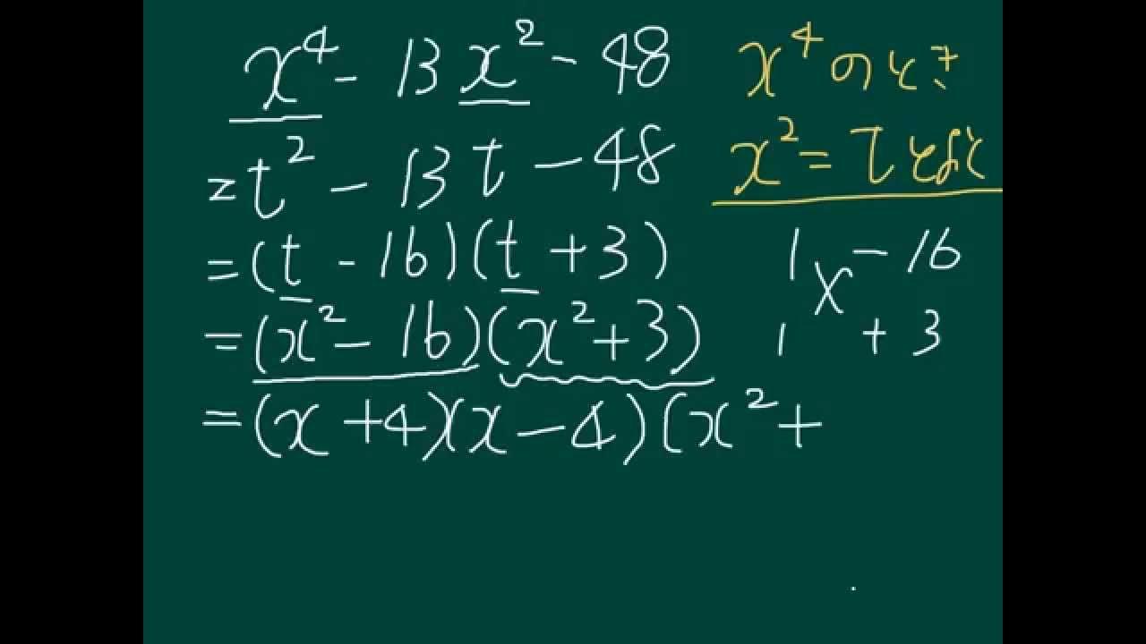 因数分解_X^4がある