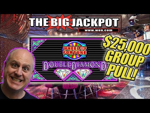 $25,000 GROUP PULL 💎Wheel of Fortune Double Diamond! 💎3 JACKPOTS! - 동영상