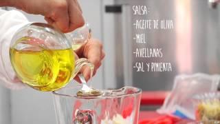 Ensalada De Pasta Con Pollo Y Espinacas