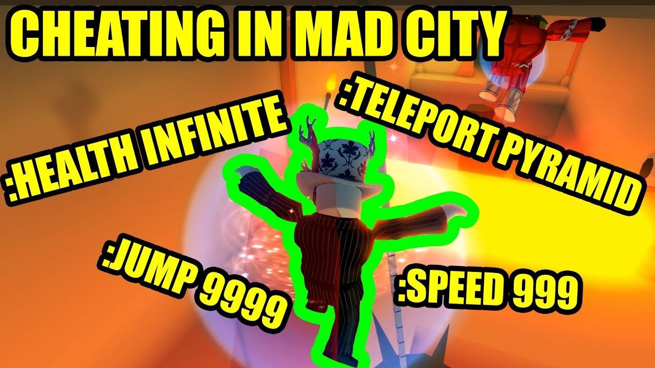 Ultimate Cheating In Roblox Mad City With Admin Commands Update