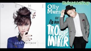 Demi Lovato vs. Olly Murs ft Flo Rida - Heart Attack vs. Troublemaker (Mashup)