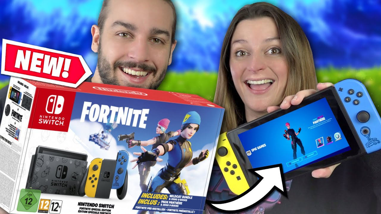 ON A RECU LA NOUVELLE NINTENDO SWITCH COLLECTOR FORTNITE ! SKIN EXCLUSIF PANTHÈRE