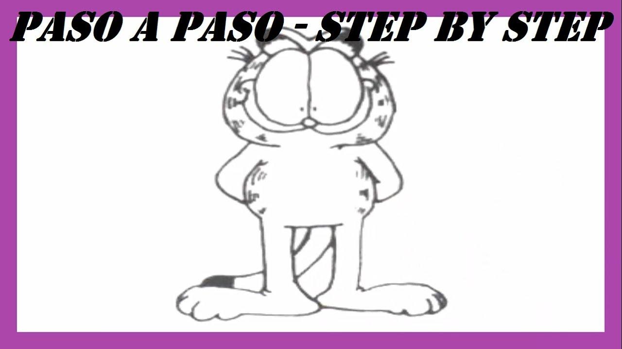 Como dibujar a Garfield l How to draw Garfield l Dibujo l Drawing ...