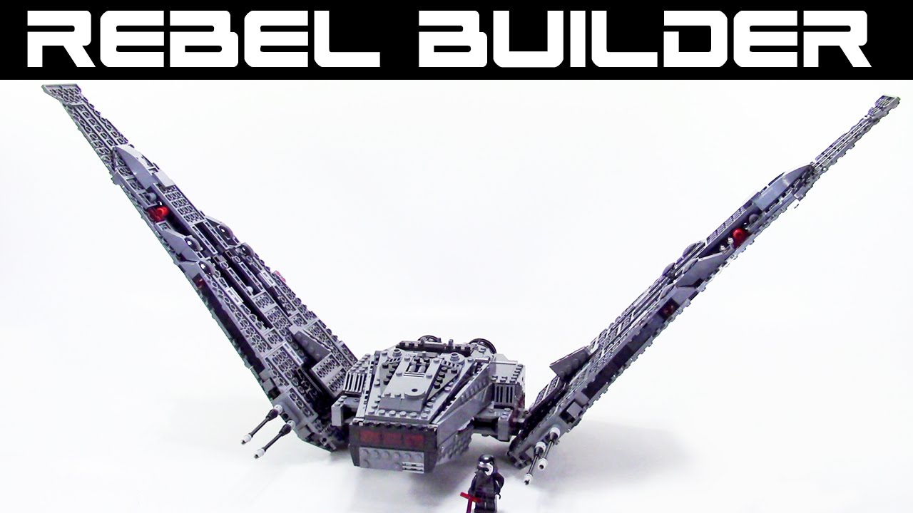 Lego Kylo Rens Command Shuttle Modifications Tutorial Youtube