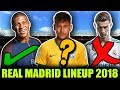 How Will Real Madrid Line Up Without RONALDO | Real Madrid Possible Line Up 2018-19 ft Neymar Mbappe
