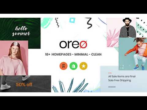 Oreo Minimal Clean Shopify Theme   Themeforest Website Templates and Themes