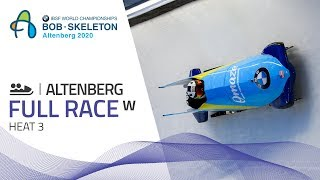 Altenberg | BMW IBSF World Championships 2020 - Women's Bobsleigh Heat 3 | IBSF Official