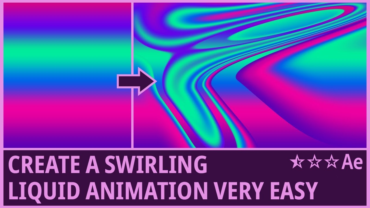 Swirling Liquid Animation in After Effects - Tutorial on Behance
