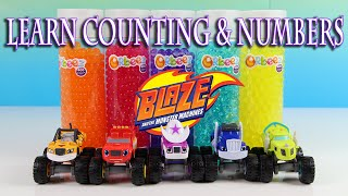 BLAZE AND THE MONSTER MACHINES POP-UP PALS TOYS - LEARN COLORS WITH HUGE BLAZE SURPRISE EGGS