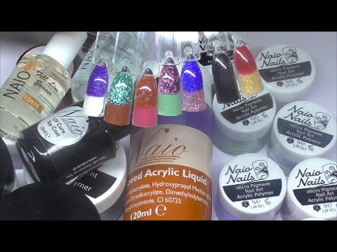 NEW NAIO ACRYLIC POWDERS + SWATCHES | ABSOLUTE NAILS - YouTube