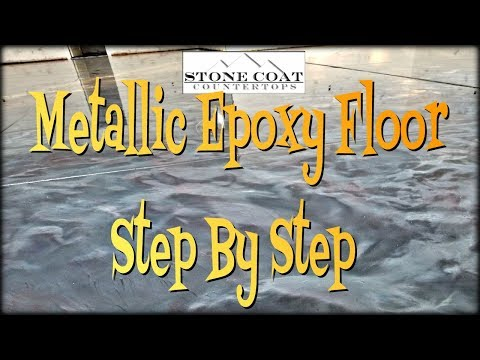 Metallic Epoxy, Floor Step By Step