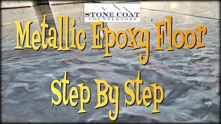 Metallic Epoxy, Floor Step By Step