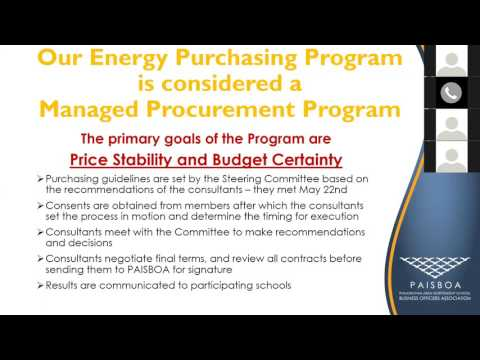 PAISBOA Energy Purchasing Webinar 06 08 17: Part 1 Electricity