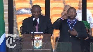 Nelson Mandela Sign Language Flap: 'Fake' Interpreter at Memorial Service | The New York Times