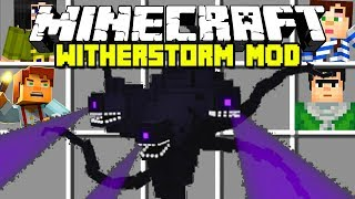 Minecraft WITHER STORM MOD!   FIGHT AND DEFEAT THE WITHER STORM!   Modded Mini-Game