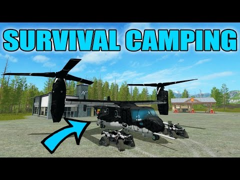FARMING SIMULATOR 2017 | CRAZY HELICOPTERS  | CAMPING SURVIVAL | LIVE STREAM