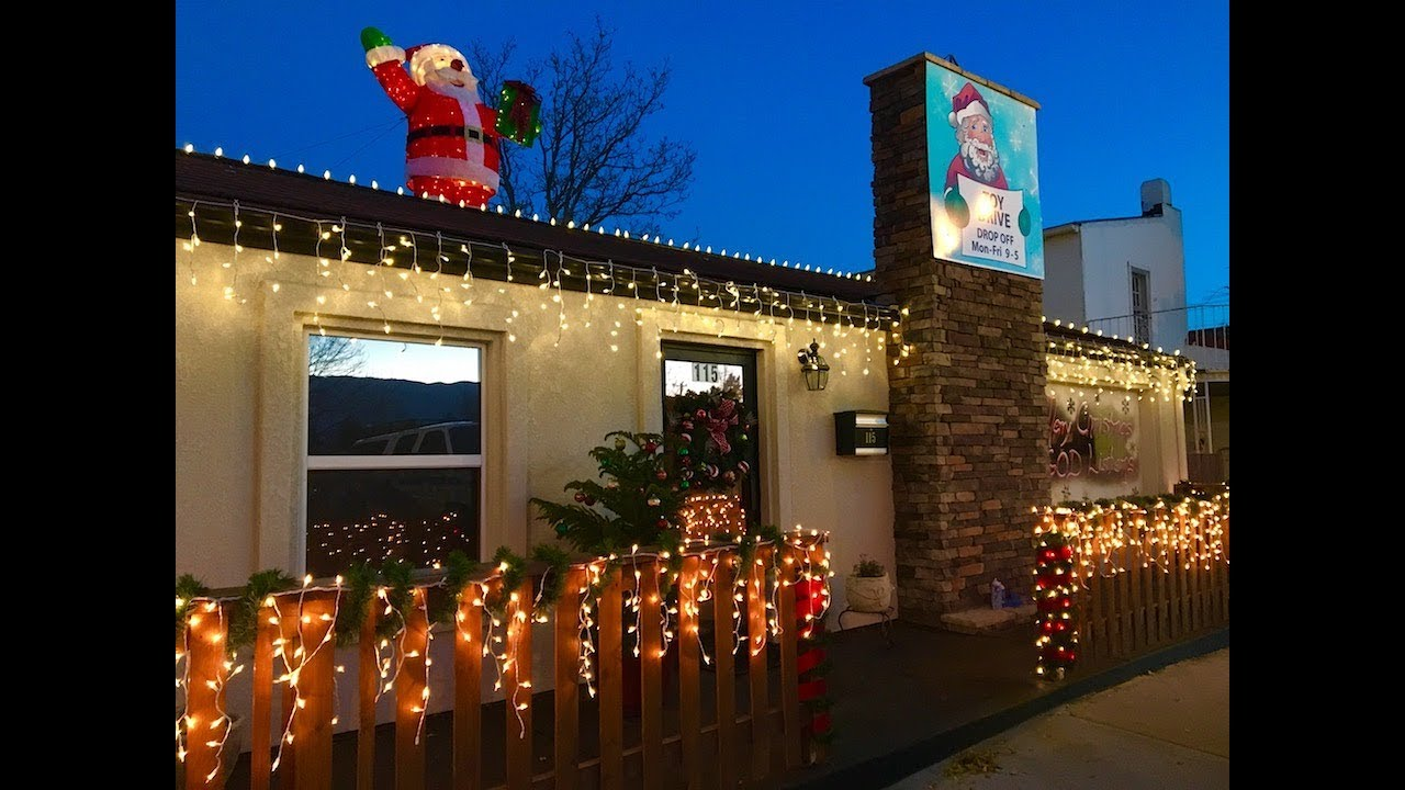 Installation Of Exterior Christmas Lights On A Roof