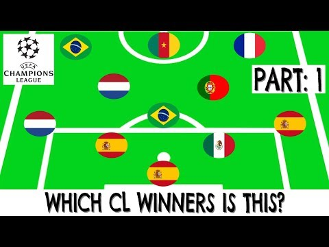 Can You Guess The CHAMPIONS LEAGUE Winners?(1999-2018) | Football Quiz (Part 1)