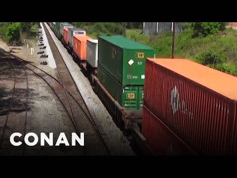"EXCLUSIVE ""The Girl On The Train"" Clip  - CONAN on TBS"