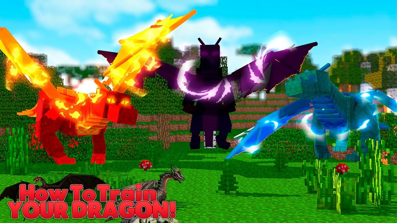 Minecraft How Train Your Dragon