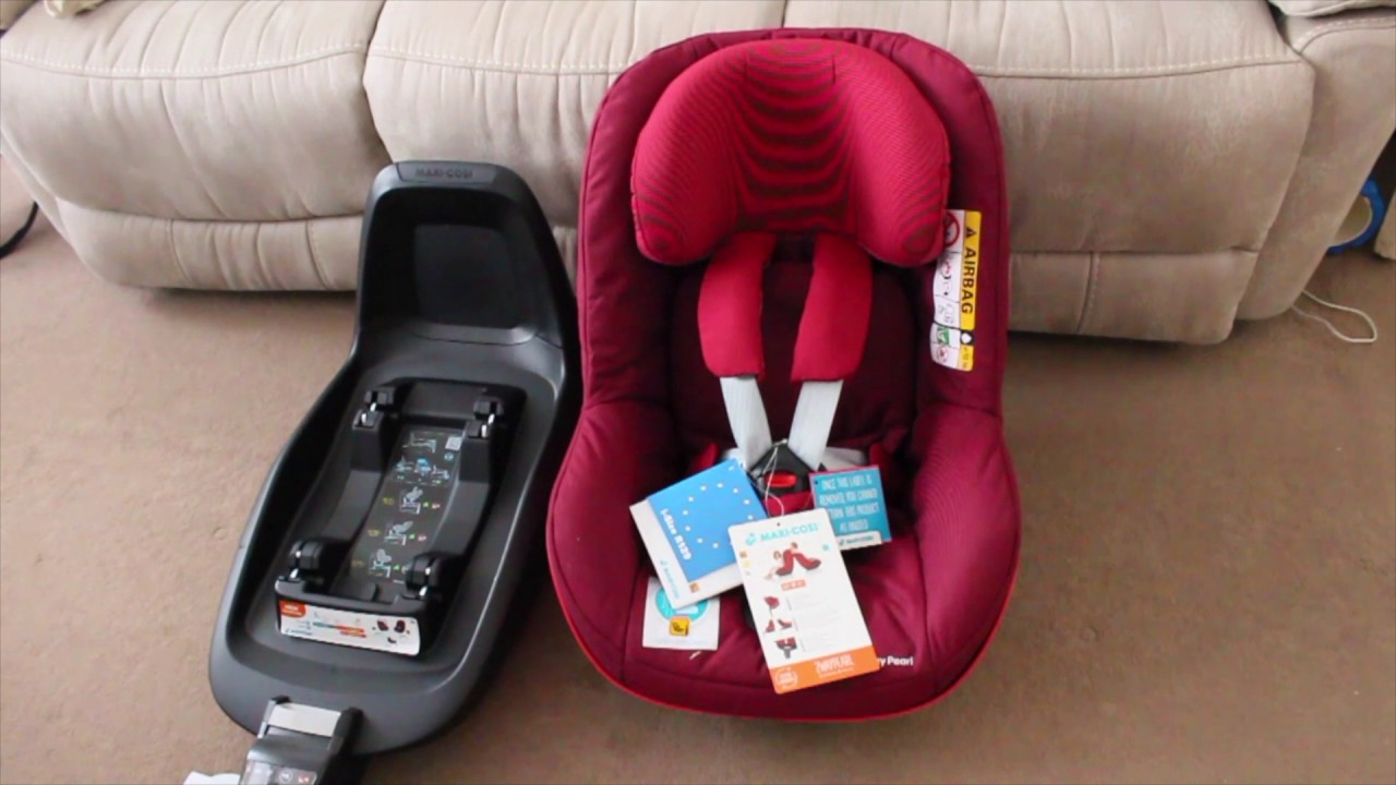 unboxing maxi cosi 2 way pearl isofix car seat youtube. Black Bedroom Furniture Sets. Home Design Ideas