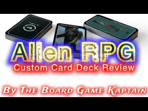 Alien RPG Custom Card Deck Review