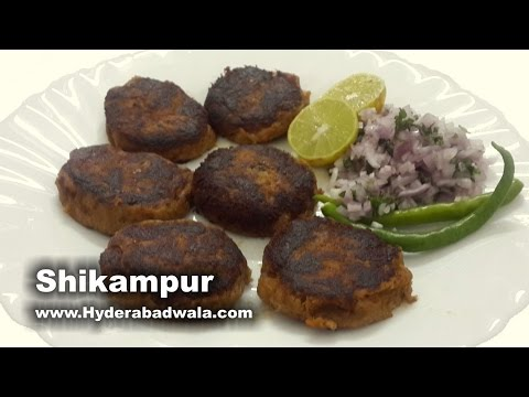 Shikampur Kebab Recipe Video - Mutton Cutlet/Patties – Easy & Simple Hyderabadi Cooking (English)
