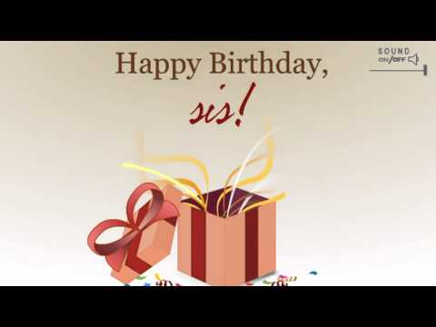 Happy Birthday Sister | Wishes | Ecards | Message | Greetings Card | Video | 08 04