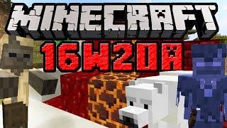 Minecraft 16W20A [ PL ] NOWE MOBY ORAZ BLOKI! MINECRAFT 1.10!