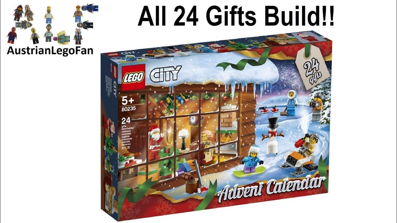 Calendrier Lego Friends 2019.Lego City 60235 Advent Calendar 2019 Lego Speed Build Review