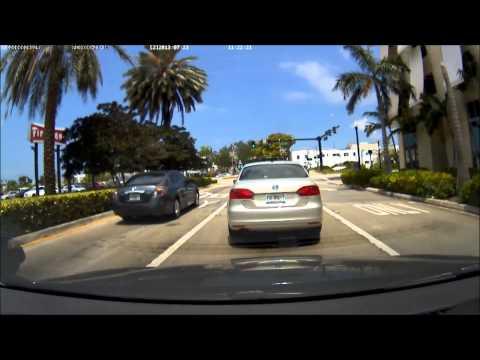 Driving through downtown Hollywood, Florida