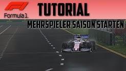 SO ERSTELLE ICH EINE MEHRSPIELER SAISON!! || F12019 Tutorial || Deutsch