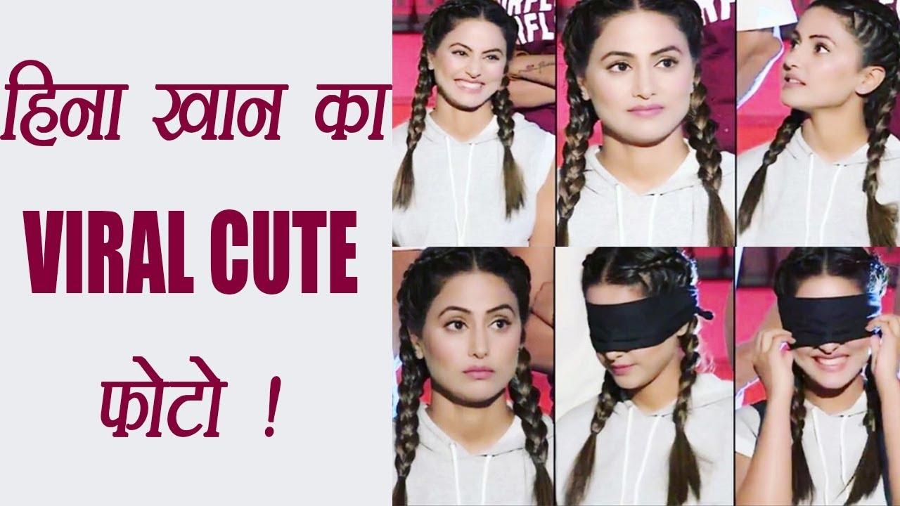 Hina Khan Aka Akshara Cute Photo Goes Viral Watch Filmibeat Youtube