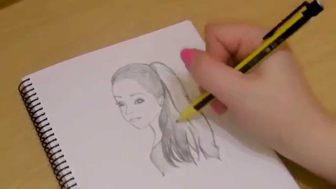 Drawing tutorial how to draw ariana grande youtube