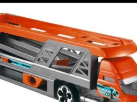 jouet camion transporteur des voitures hot wheels blastin rig youtube. Black Bedroom Furniture Sets. Home Design Ideas