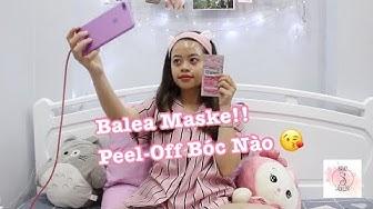 [Sanvajulie] Thử mặt nạ bóc lột Balea! | Trying Mask Balea Peel-off