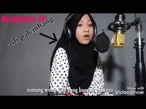 Gadis cantik nyanyi lagu wong kito