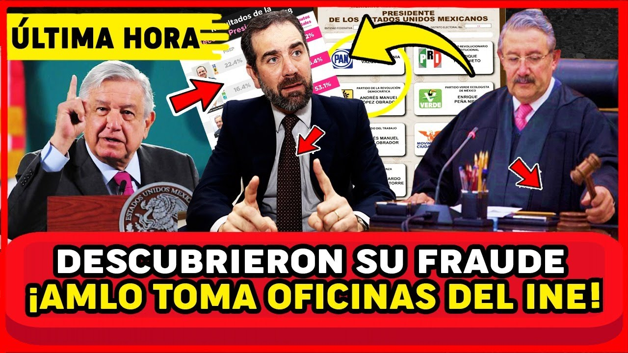 DOMINGAZO! DECISION DE EMERGENCIA DE AMLO, TOMA OFICINAS DEL INE, INICIA LIMPIA HOY. LORENZO SH0CK